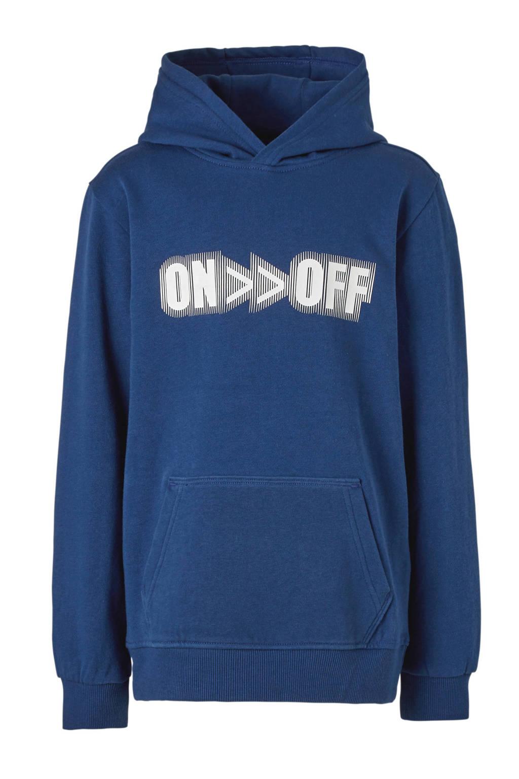 Mitch hoodie Mex donkerblauw, Donkerblauw/wit