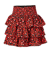 rok Jungle met panterprint rood