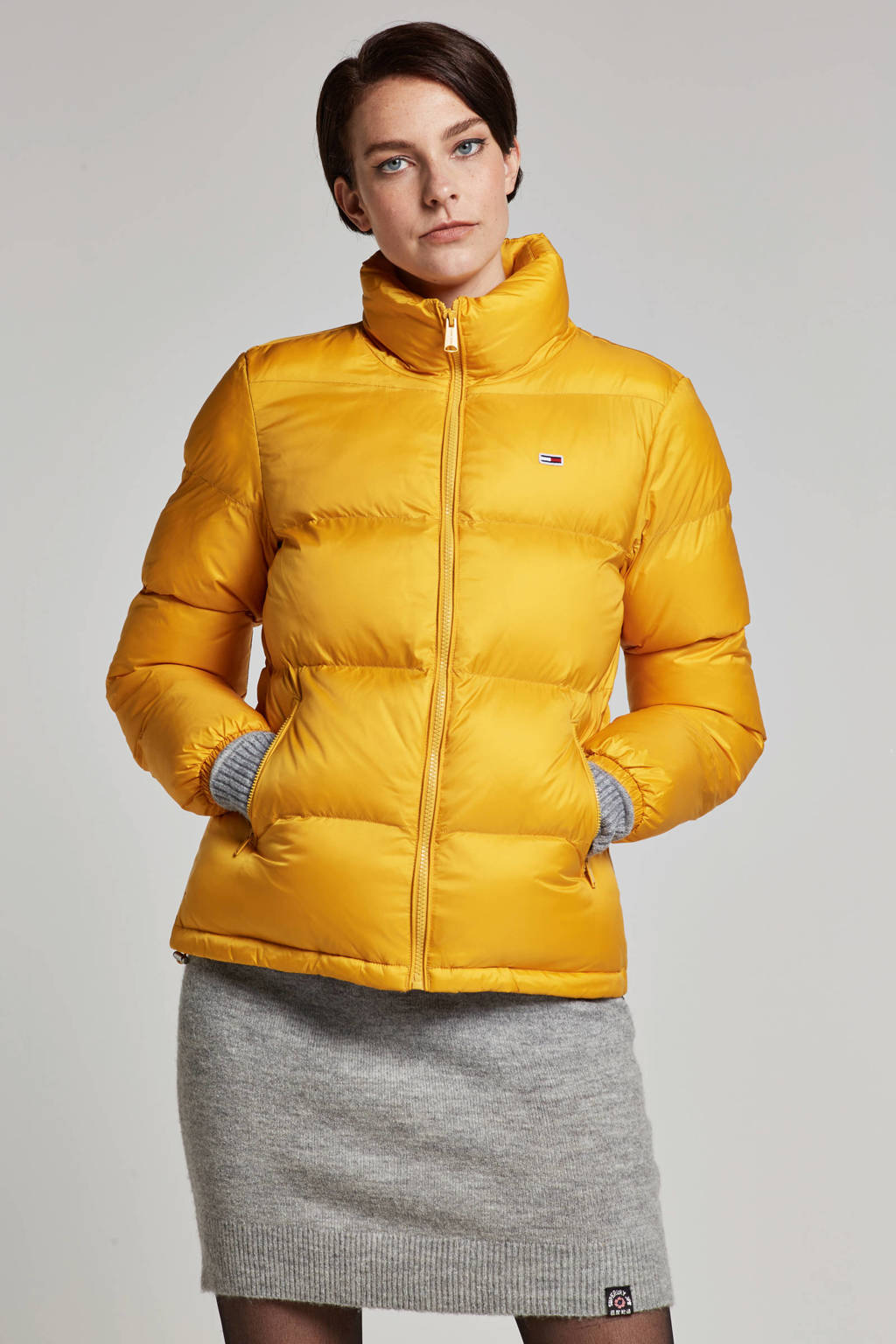 Tommy Jeans jas, Geel