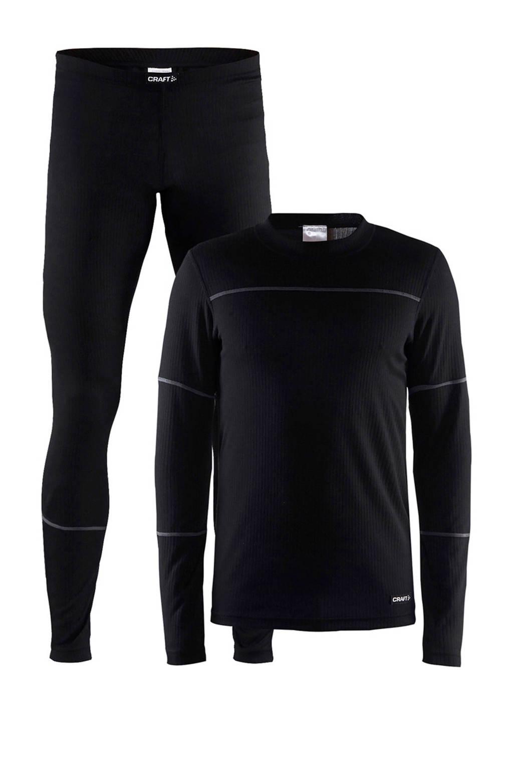Craft thermoshirt en -broek, Zwart