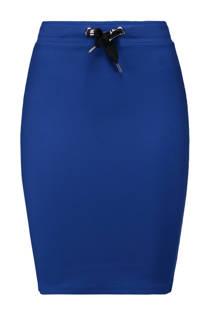 CoolCat high waist kokerrok met zijstreep blauw (dames)
