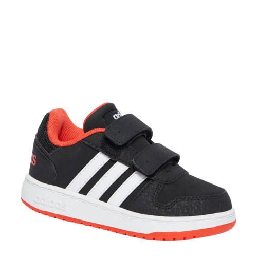 Hoops 2.0 sneakers zwart-rood