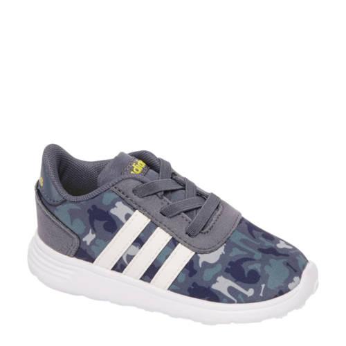sneakers met camouflageprint grijs