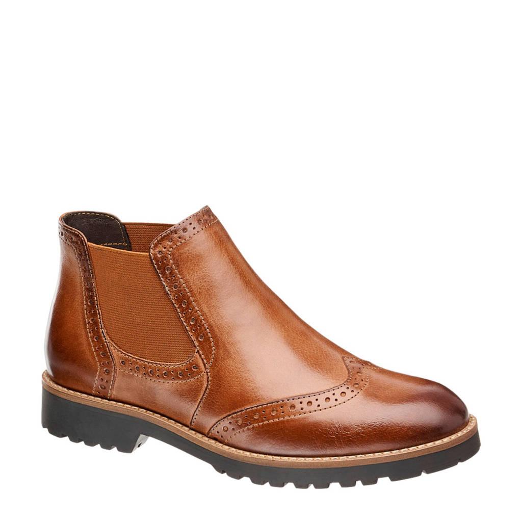 vanHaren 5th Avenue leren chelsea boots cognac, Cognac