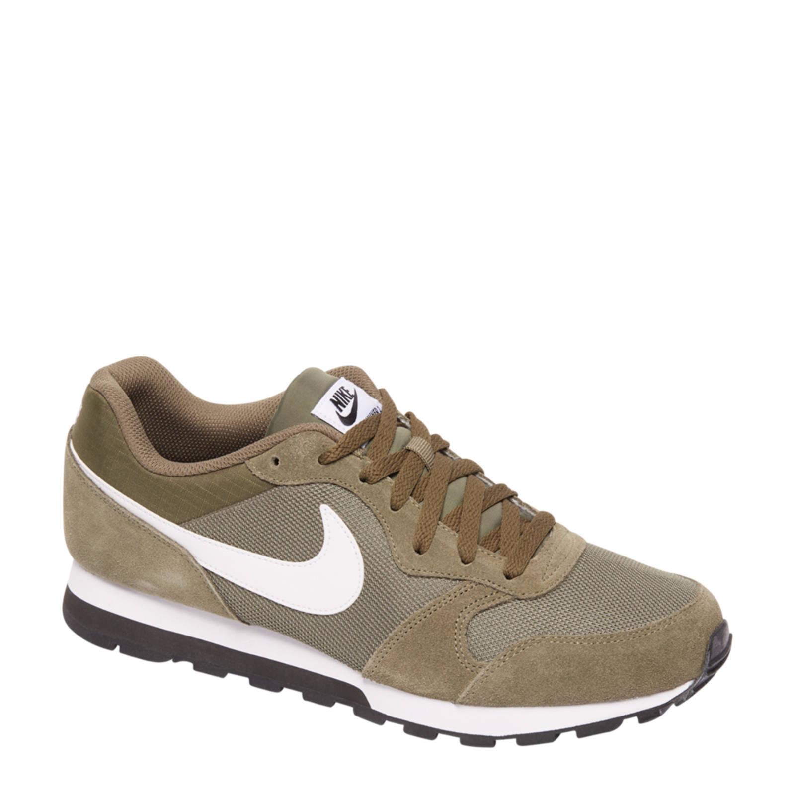 MD Runner 2 sneakers met suède groen