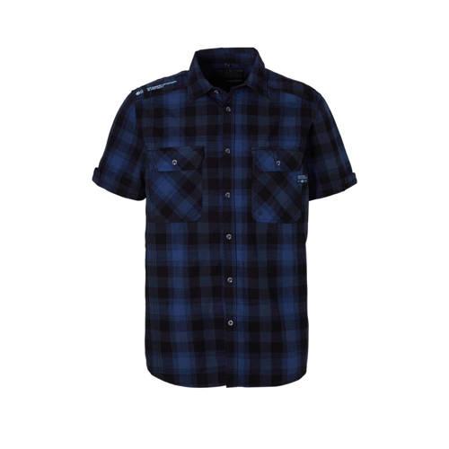 geruite overhemd zwart-marine