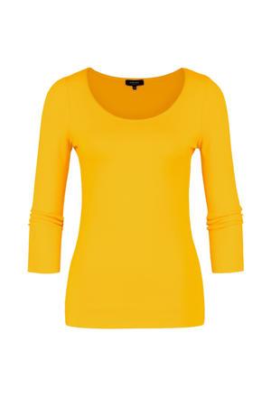 basic T-shirt geel