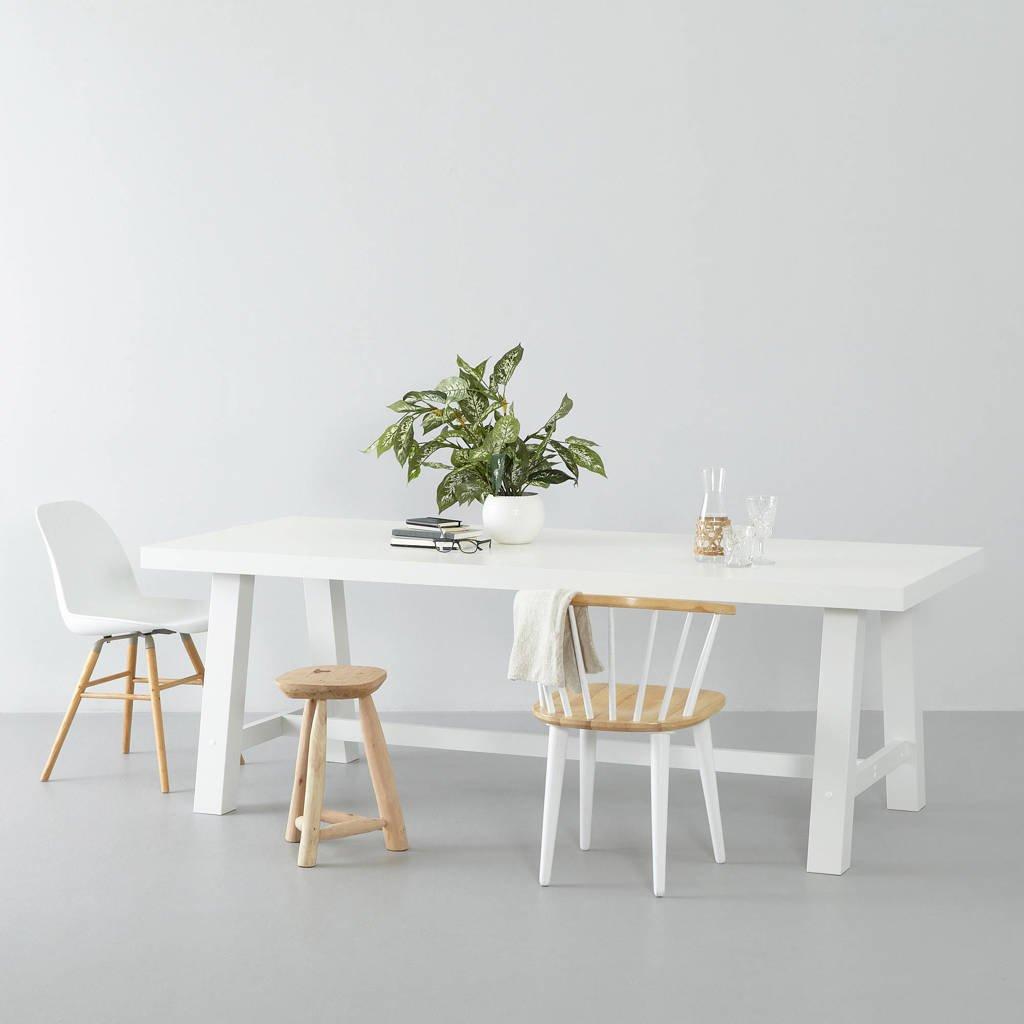 Wehkamp Home eetkamertafel Bushwick (220cm) wit, Wit, 90