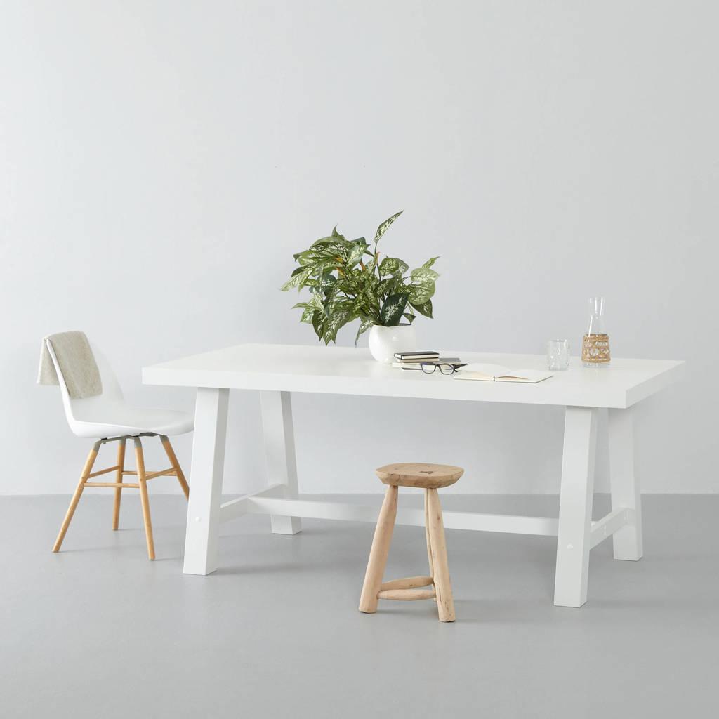 wehkamp home eetkamertafel Bushwick (180cm) wit, Wit