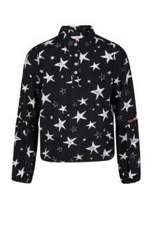 blouse met sterren zwart