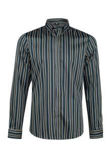 slim fit overhemd met strepen