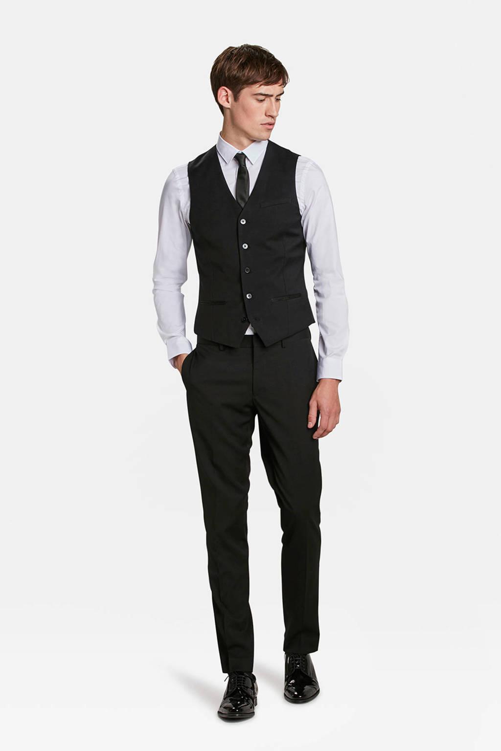 WE Fashion gilet zwart, Zwart