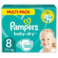 Pampers Baby-Dry maandbox maat 8 (17+ kg) 100 luiers