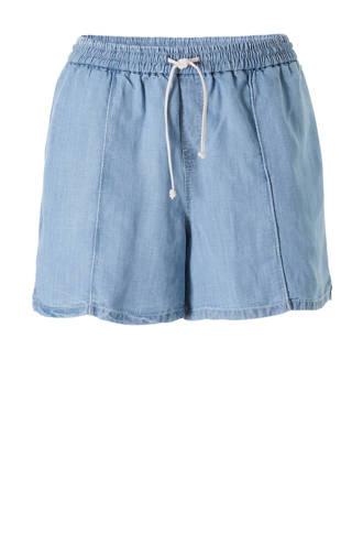 jeans short met linnen