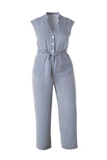 Violeta by Mango gestreepte jumpsuit blauw/wit (dames)