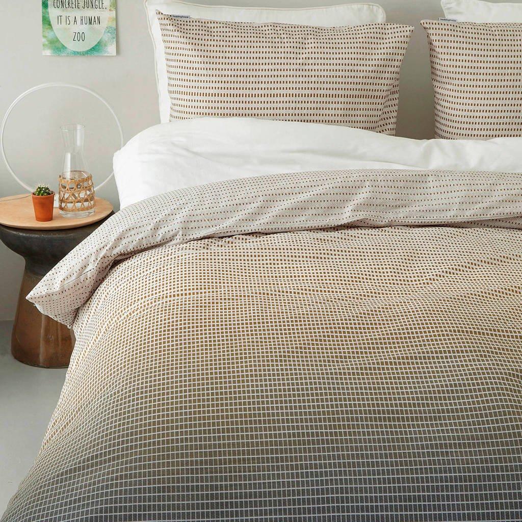 Beddinghouse katoenen dekbedovertrek lits jumeaux, GRijs/taupe/zand, Lits-jumeaux (240 cm breed)