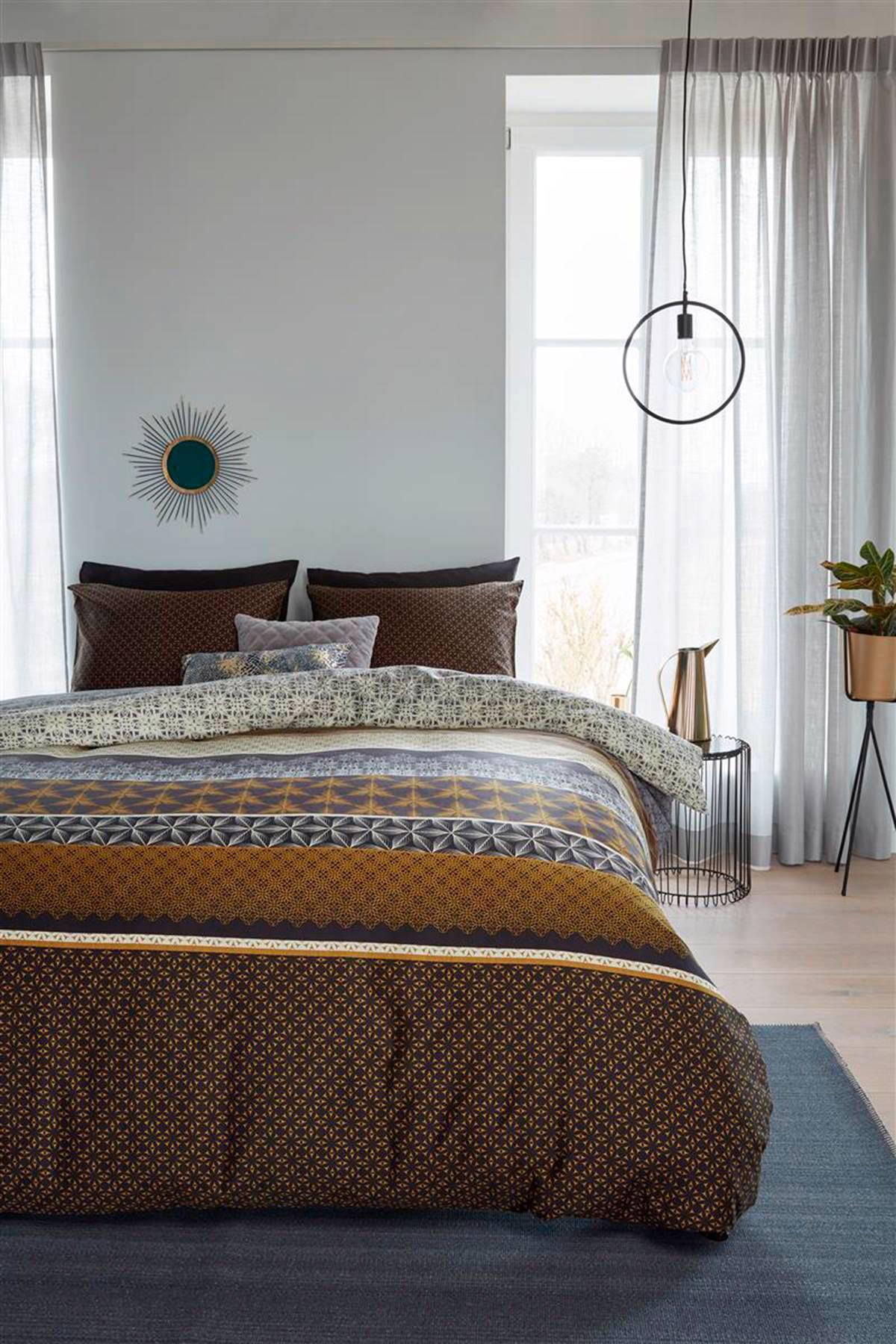 beddinghouse katoensatijnen dekbedovertrek lits jumeaux goud