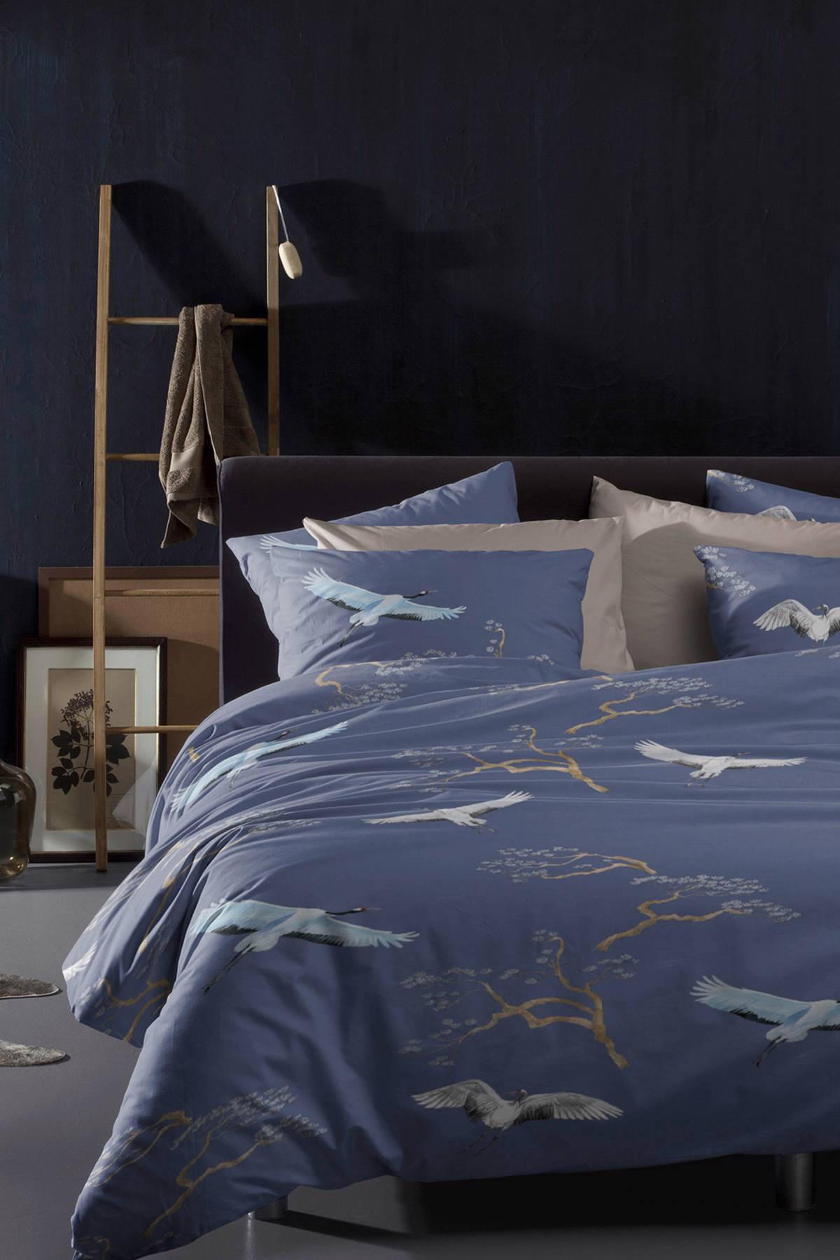 damai katoenen dekbedovertrek lits jumeaux blauw