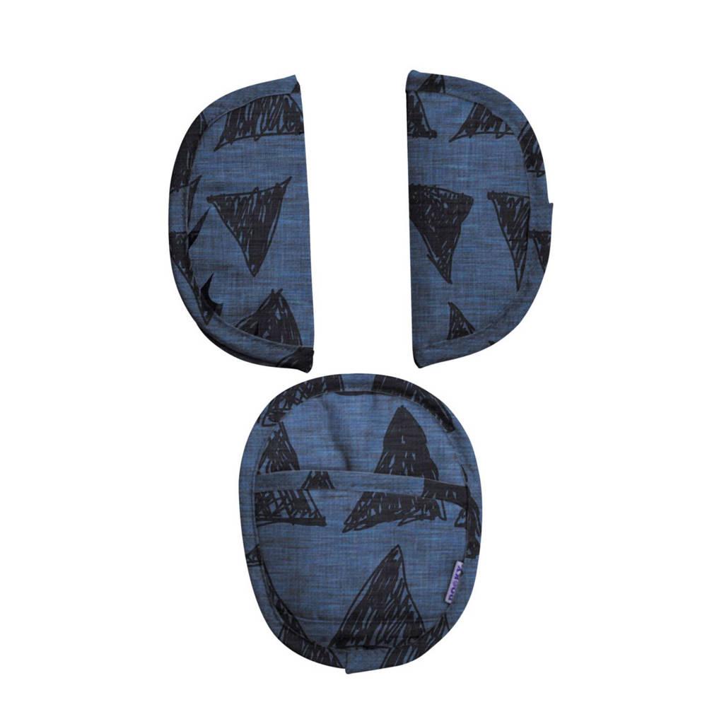 Dooky Tribal gordelbeschermers blauw, Blauw