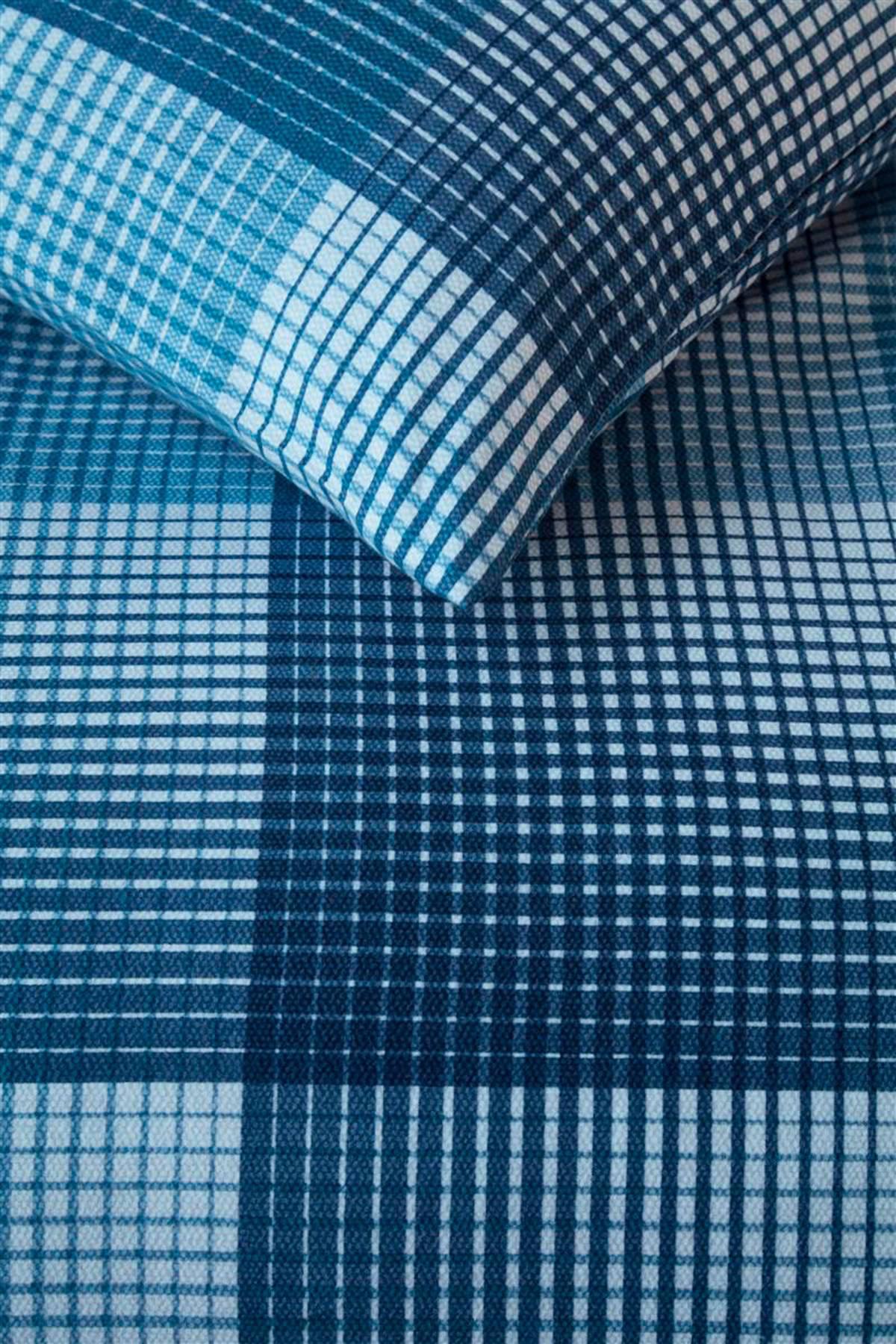 beddinghouse flanellen dekbedovertrek lits jumeaux blauw