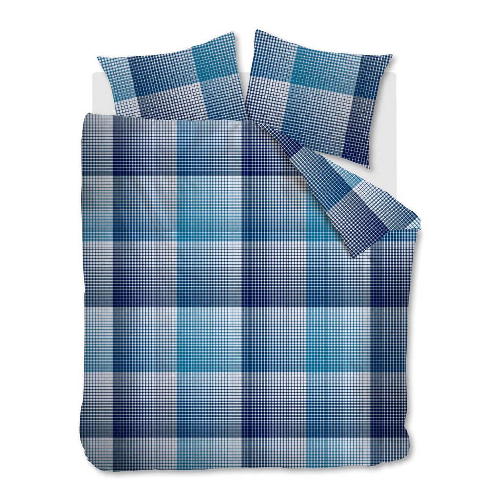 Beddinghouse flanellen dekbedovertrek lits jumeaux, Blauw, Lits-jumeaux (240 cm breed)