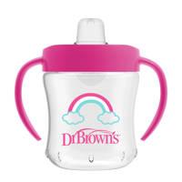 Dr. Brown's drinkbeker zachte tuit 180 ml roze, Roze