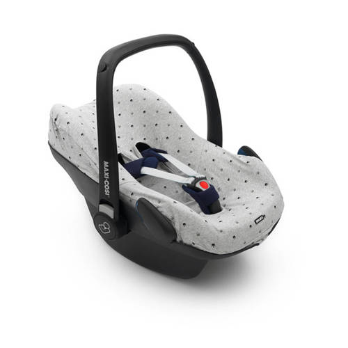 Dooky Seat Cover Maxi Cosi Light Grey Crowns