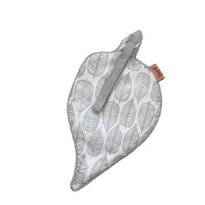 Beleaf speendoekje warm grey/wit