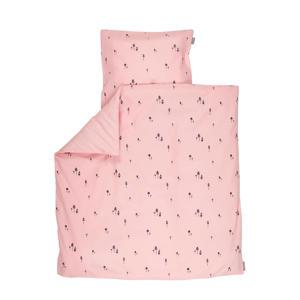 Pink gnome dekbedovertrek ledikant 100x140 cm