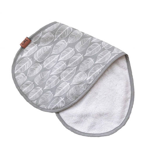Witlof for kids Beleaf spuugdoekje warm grey/wit kopen
