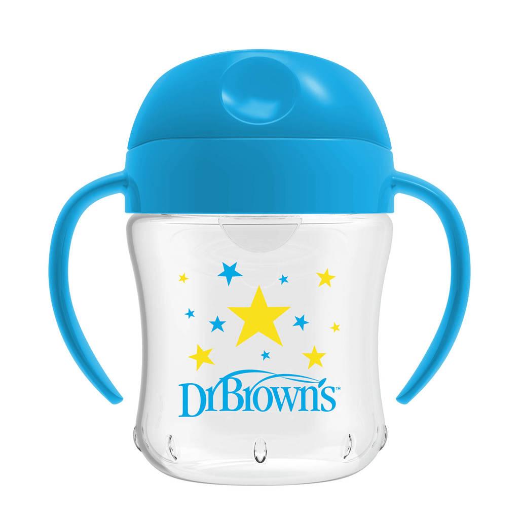 Dr. Brown's drinkbeker zachte tuit 180 ml blauw, Blauw