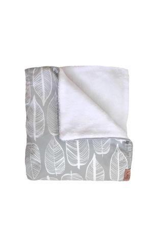 Beleaf Tuck-Inn® baby ledikantdekentje warm grey/wit