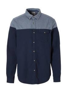 edc Men regular fit overhemd blauw