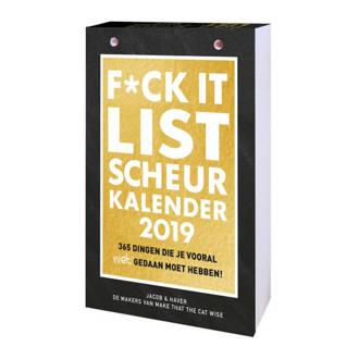 F*ck it list scheurkalender 2019