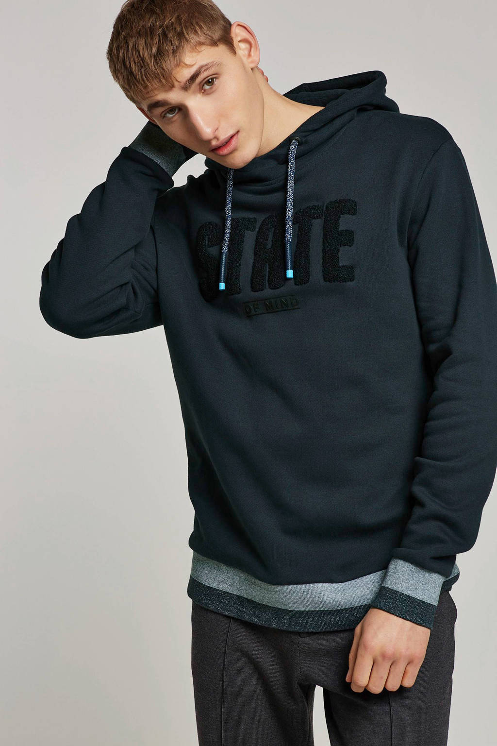 ESPRIT Men Casual hoodie, Donkerblauw