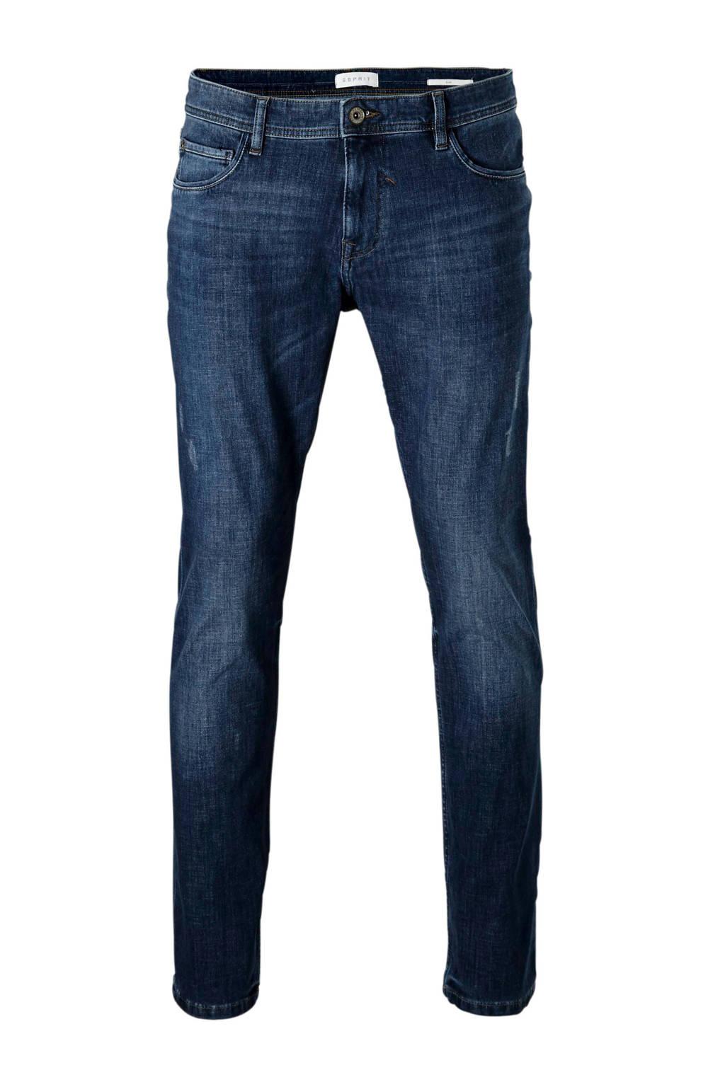 ESPRIT Men Casual  slim slim fit jeans, Donkerblauw