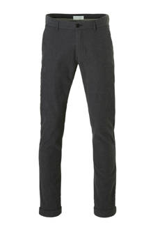 Men Collection slim fit broek grijs