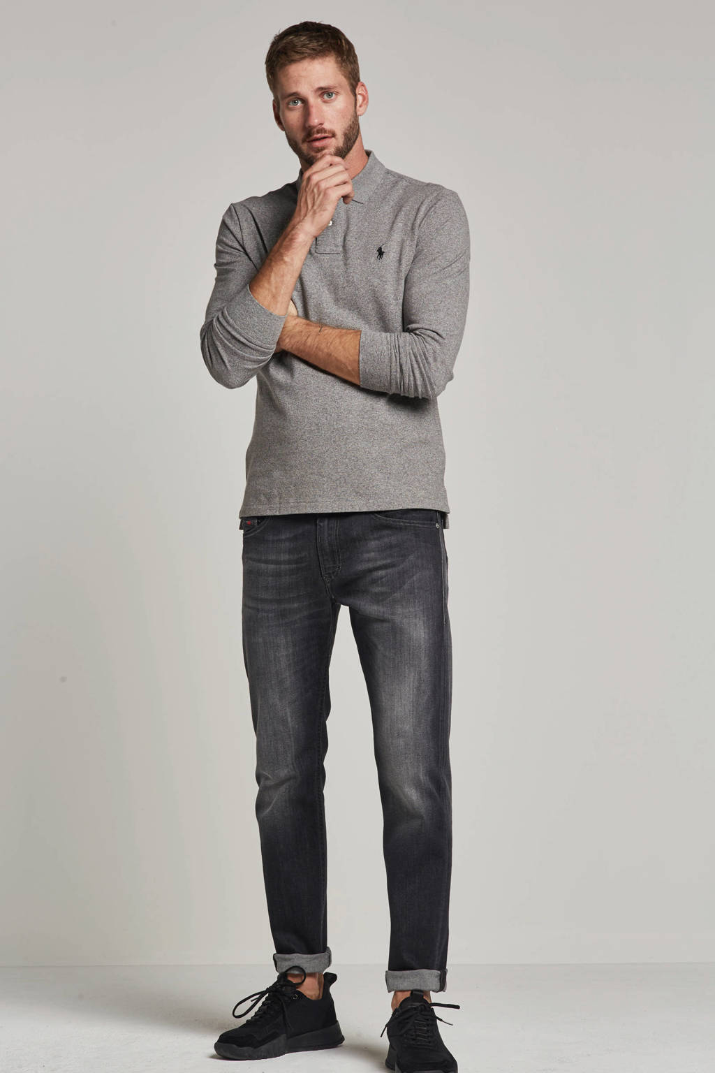 Diesel slim fit jeans Thommer, Grijs