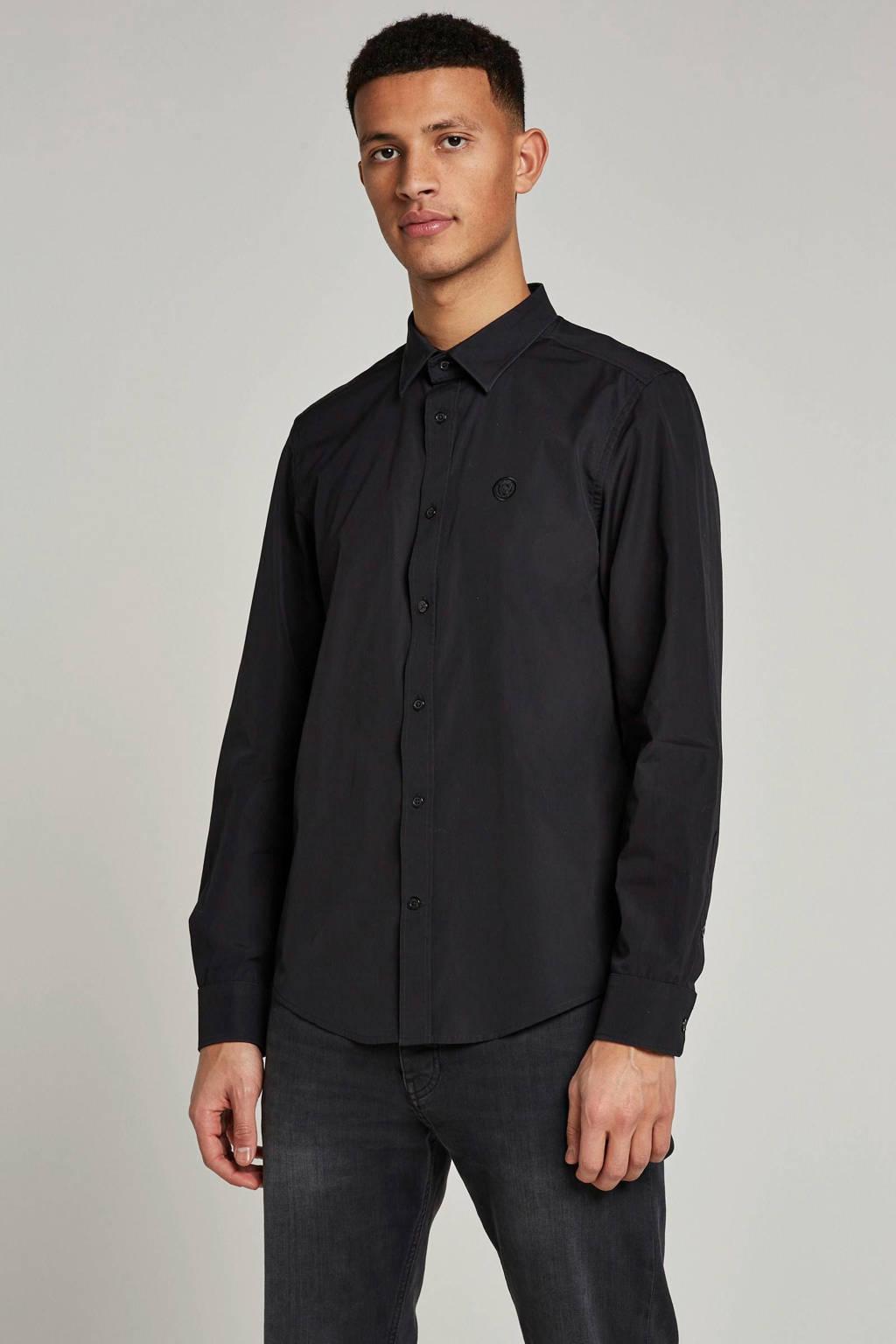 Diesel slim fit overhemd, Zwart