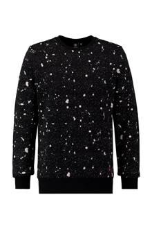 trui met opdruk zwart