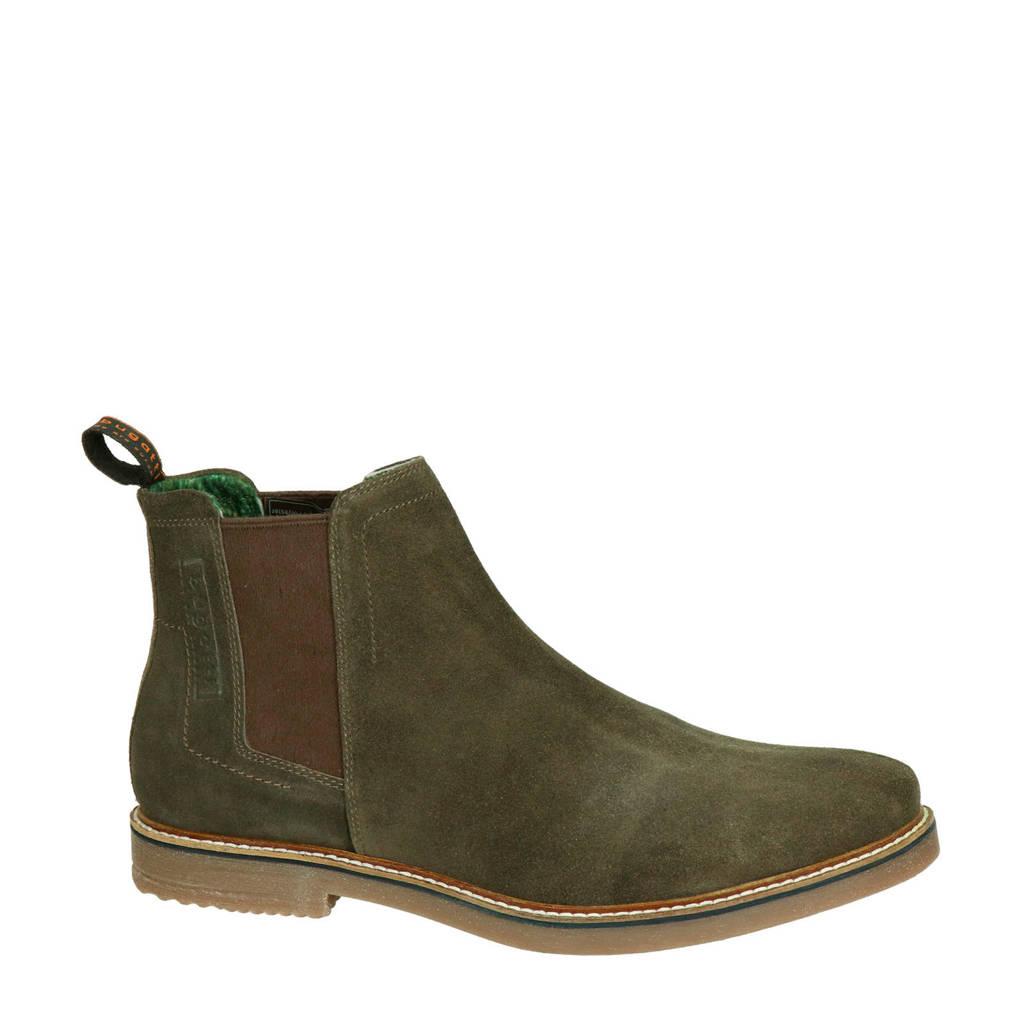 Bugatti suède chelsea boots, Bruin