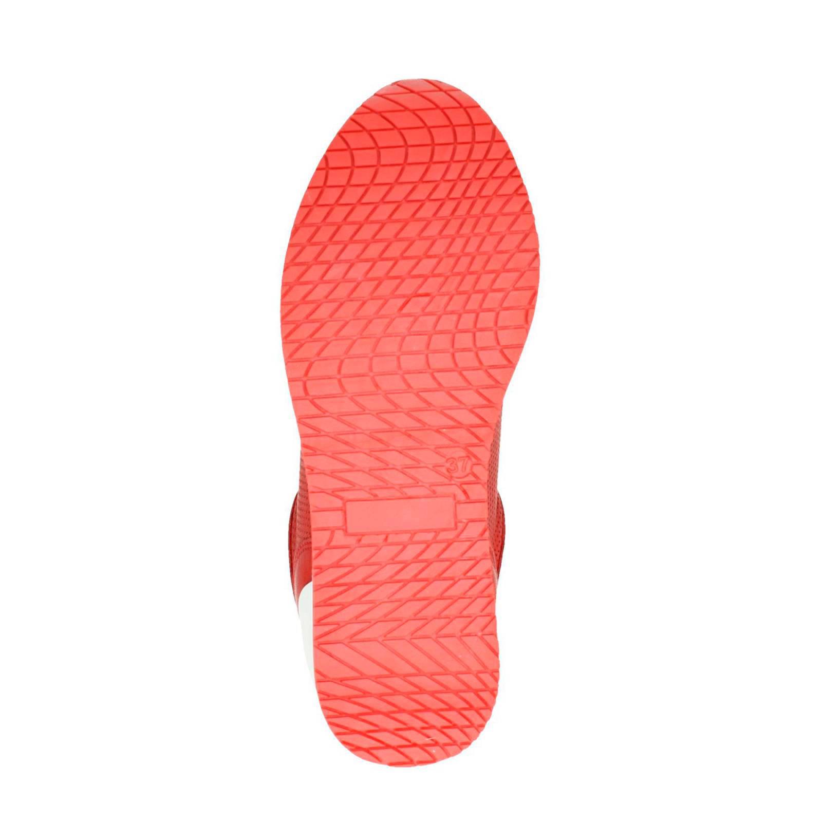 Nelson Platform Sneakers Leren RoodWehkamp UpGSMVqz