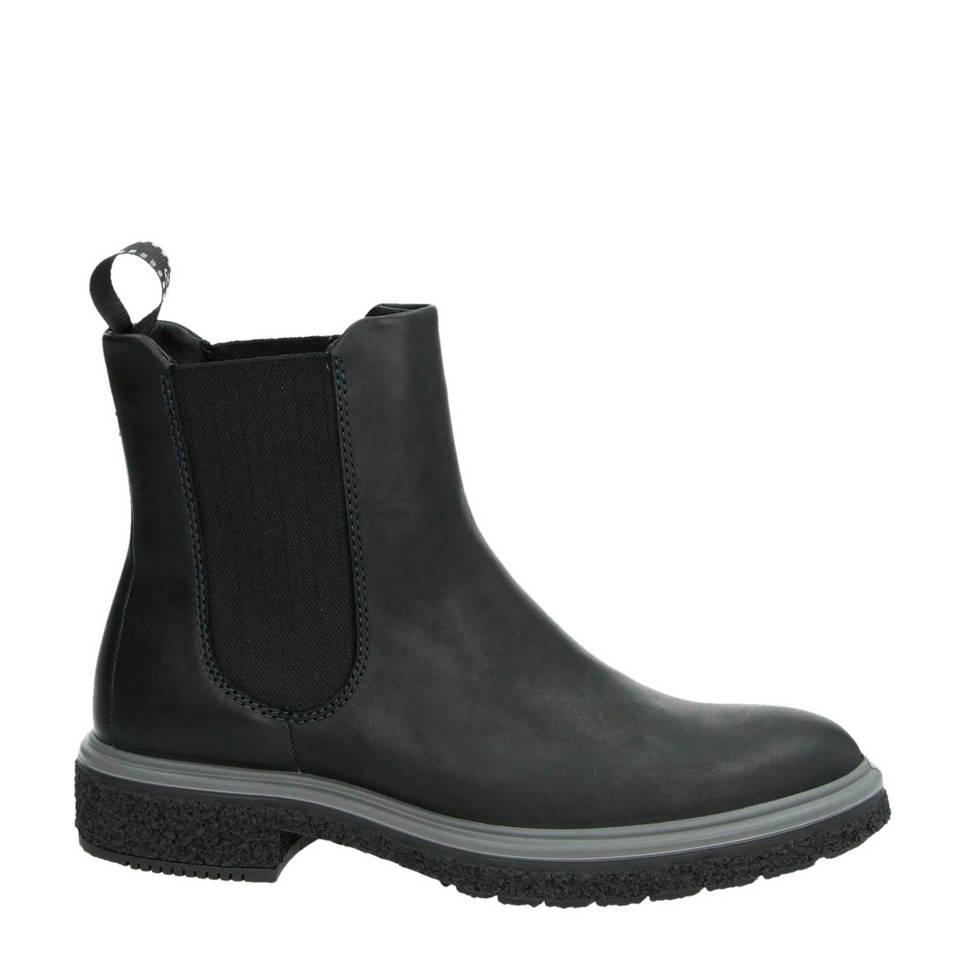 Ecco leren chelsea boots Crepetray zwart, Zwart