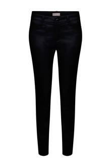 gecoate slim fit broek zwart