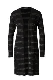 C&A Yessica gestreepte vest met glitters zwart