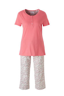 pyjama met print roze
