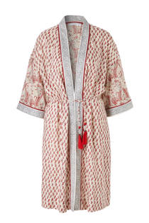 Mango kimono met all over print
