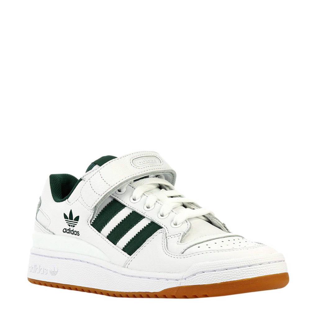 info for 8d317 7ec60 adidas originals sneakers Forum Low met strepen witgroen, Witgroen