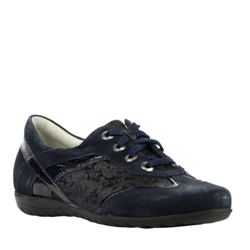 Waldlaufer  suède sneakers met print donkerblauw, Blauw
