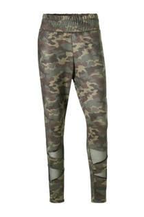 ACTIVE By Zizzi sportbroek camouflage kaki (dames)